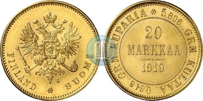 20 markkaa 1910 year