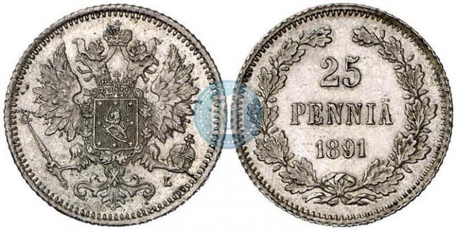 25 пенни 1891 года