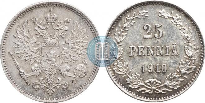 25 pennia 1910 year