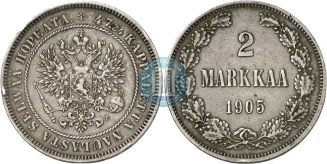 2 markkaa 1905 year