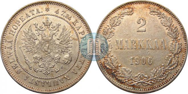2 markkaa 1906 year