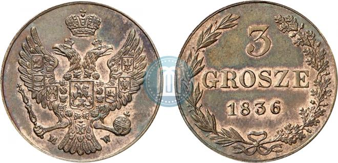 3 grosze 1836 year