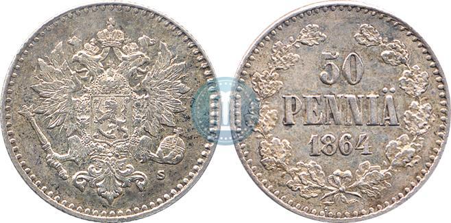 50 пенни 1864 года