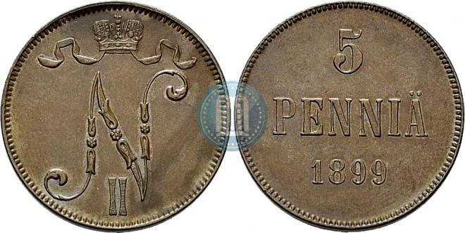 5 pennia 1899 year