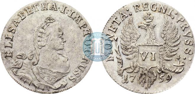 6 groszy 1759 year