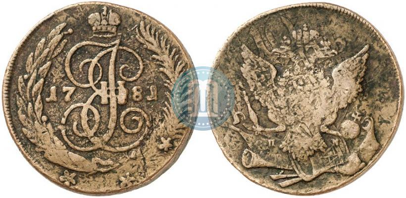 Фото 5 копеек 1781 года СПМ